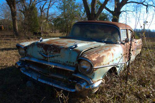 1957 Chevrolet Chevy Seafoam Green Ben Hill County GA Photograph Copyright Brian Brown Vanishing South Georgia USA 2014