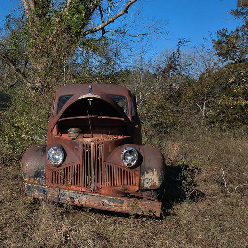 Studebaker Truck Circa 1947 Ben Hill County GA Photograph Copyright Brian Brown Vanishing South Georgia USA 2014