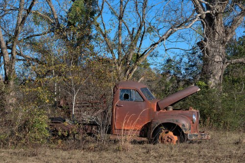 Studebaker Truck Late 1940s Ben Hill County GA Photograph Copyright Brian Brown Vanishing South Georgia USA 2014