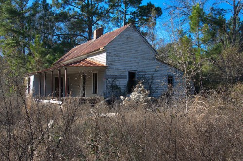 Bulloch County GA Adabelle Area Croatan Indian Community Vernacular Farmhouse Photograph Copyright Brian Brown Vanishing South Georgia USA 2015