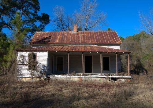 Bulloch County GA Adabelle Area Vernacular Farmhouse Photograph Copyright Brian Brown Vanishing South Georgia USA 2015