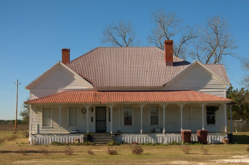 Denmark GA Bulloch County Folk Victorian Farmhouse Photograph Copyright Brian Brown Vanishing South Georgia USA 2015