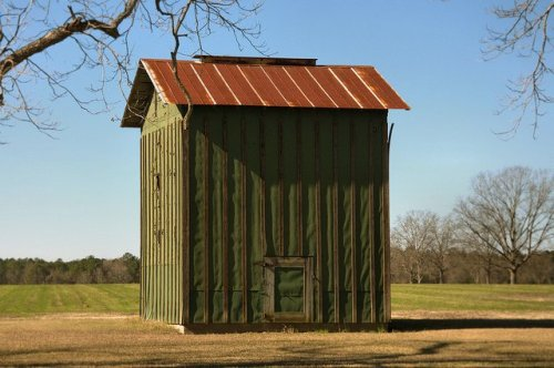 Denmark GA Bulloch County Green Tobacco Barn Photograph Copyright Brian Brown Vanishing South Georgia USA 2015