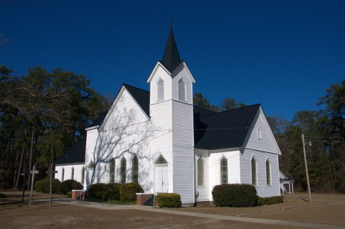 Historic New Hope Methodist Church Bulloch County GA Photogaph Copyright Brian Brown Vanishing South Georgia USA 2015