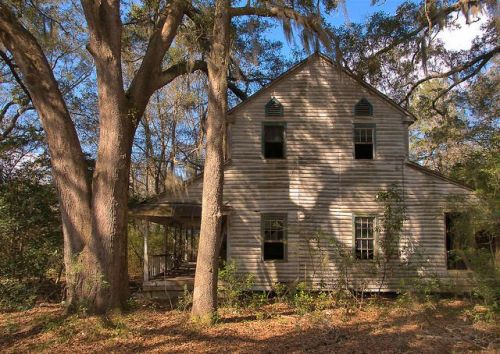Long County GA Historic Plantation Plain I House Photograph Copyright Brian Brown Vanishing South Georgia USA 2015