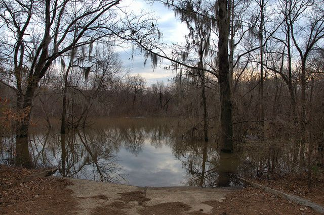 Staves Landing Montgomery Lake Ocmulgee River Official World Record Largemouth Bass Telfair County GA Photograph Copyright Brian Brown Vanishing South Georgia USA 2015