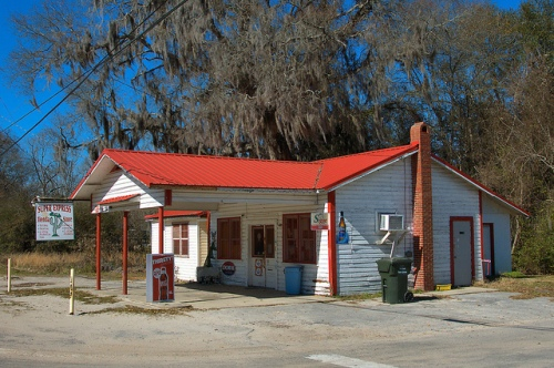 Argyle GA Clinch County Hoke Arnold's Grocery Store Filling Station Photograph Copyright Brian Brown Vanishing South Georgia USA 2015