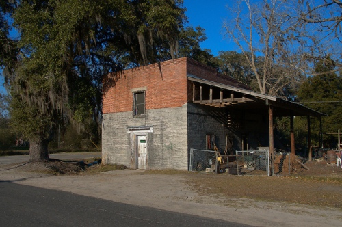 Argyle GA Clinch County Old Commercial Building Photograph Copyright Brian Brown Vanishing South Georgia USA 2015