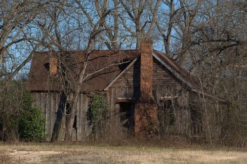Ben Hill County GA Abandoned  Board and Batten Farmhouse Photograph Copyright Brian Brown Vanishing South Georgia USA 2015