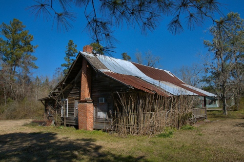 Clinch County GA Double Pen House near Rama Church Photograph Copyright Brian Brown Vanishing South Georgia USA 2015