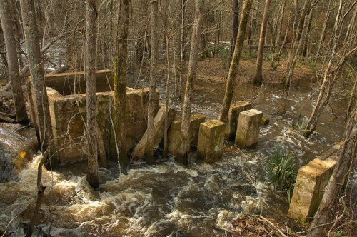 Davis Mill Foundation Jones Creek Worth County GA Photograph Copyright Brian Brown Vanishing South Georgia USA 2015