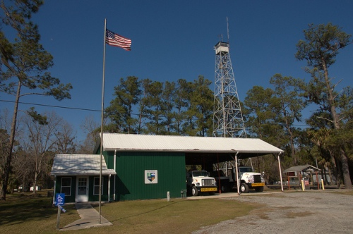 Fargo GA Georgia Forestry Fire Tower Station Photograph Copyright Brian Brown Vanishing South Georgia USA 2015