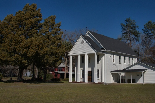 Fargo Methodist Church Clinch County GA Old School House Photograph Copyright Brian Brown Vanishing South Georgia USA 2015
