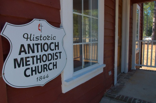 Historic Antioch Methodist Church Clinch County GA Photograph Copyright Brian Brown Vanishing South Georgia USA 2015