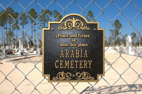 Historic Arabia Cemetery Arabia Bay Clinch County GA Photograph Copyright Brian Brown Vanishing South Georgia USA 2015