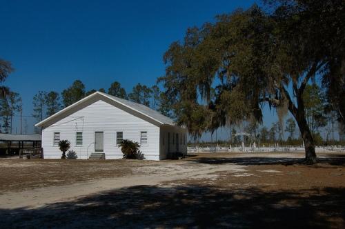 Historic Bethany Primitive Baptist Church Arabia Bay Clinch County GA Photograph Copyright Brian Brown Vanishing South Georgia USA 2015