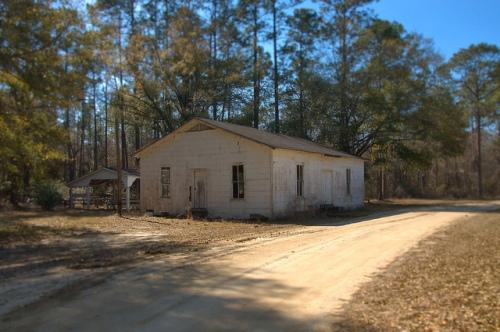 Historic Ramah Primitive Baptist Church Clinch County GA Photograph Copyright Brian Brown Vanishing South Georgia USA 2015