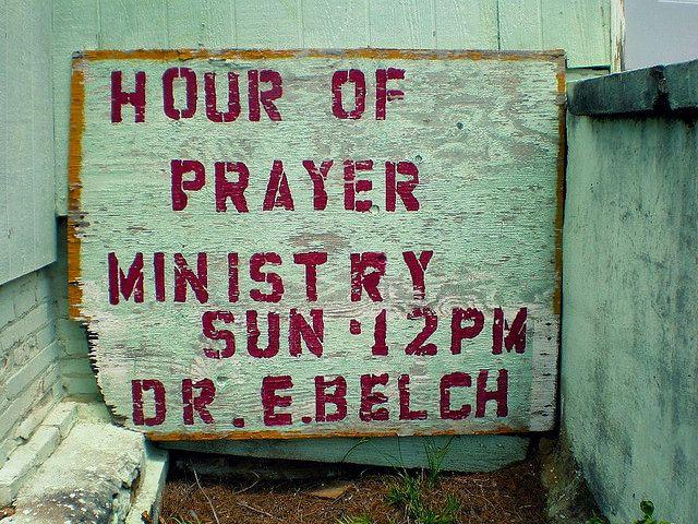 Hour of Prayer African American Church Randolph County GA Hand Stenciled Sign Photograph Copyright Brian Brown Vanishing South Georgia USA 2015