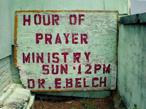 Hour of Prayer African American Church Randolph County GA Hand Stenciled Sign Photograph Copyright Brian Brown Vanishing South Georgia USA 2015