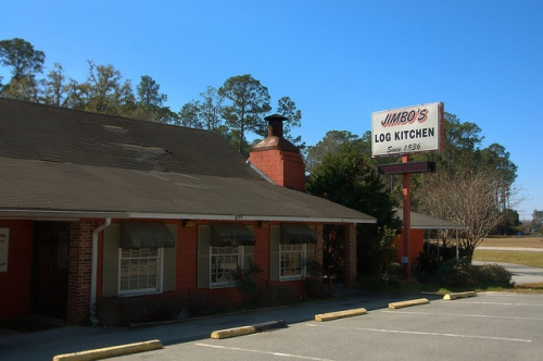Jimbos Log Kitchen Homerville GA Landmark Restaurant Closed Photograph Copyright Brian Brown Vanishing South Georgia USA 2015