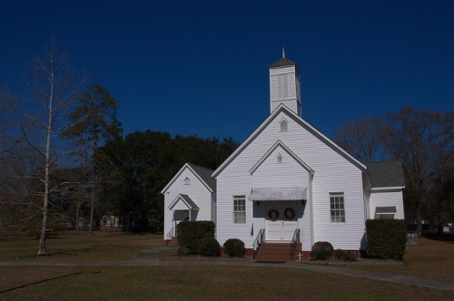 Manor United Methodist Church Ware County GA Photograph Copyright Brian Brown Vanishing South Georgia USA 2015