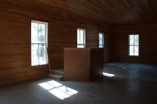 Ramah Primitive Baptist Church Clinch County GA Photograph Copyright Brian Brown Vanishing South Georgia USA 2015