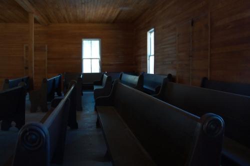 Ramah Primitive Baptist Church Pews Clinch County GA Photograph Copyright Brian Brown Vanishing South Georgia USA 2015