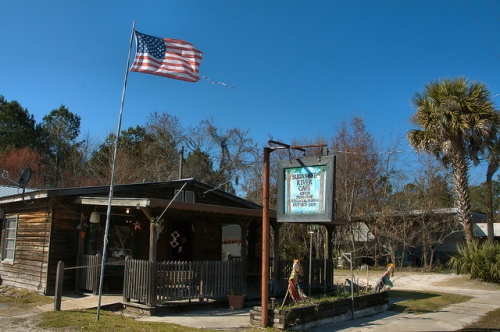 Suwannee River Cafe Restaurant Fargo GA Photograph Copyright Brian Brown Vanishing South Georgia USA 2015