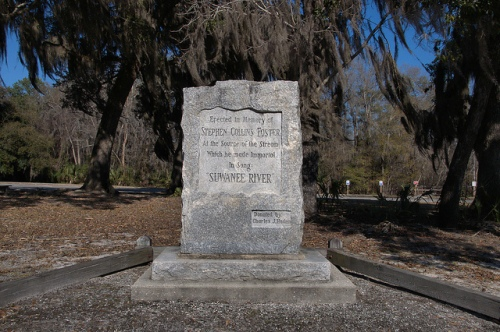 Suwannee River Headwaters Stephen C. Foster Monument Fargo GA Clinch County Photograph Copyright Brian Brown Vanishing South Georgia USA 2015