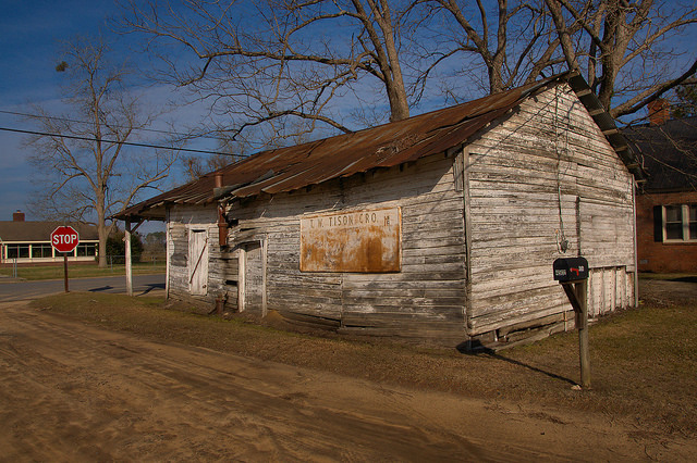 T W Tison Grocery Doles GA Worth County Photograph Copyright Brian Brown Vanishing South Georgia USA 2015