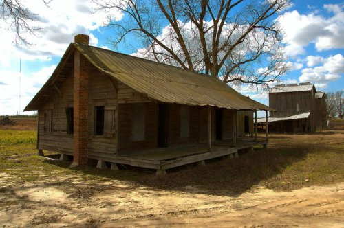 Tattnall County GA Cracker Double Pen House Iconic Southern Architecture Photograph Copyright Brian Brown Vanishing South Georgia USA 2015