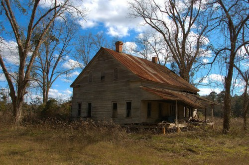 Tattnall County GA Farmhouse Triple Side Vents Photograph Copyright Brian Brown Vanishing South Georgia USA 2015