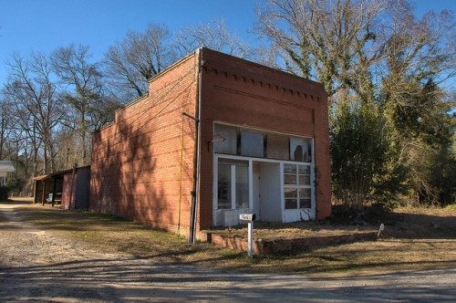 Warthen GA Washington County Historic Commercial Storefront Photograph Copyright Brian Brown Vanishing South Georgia USA 2015