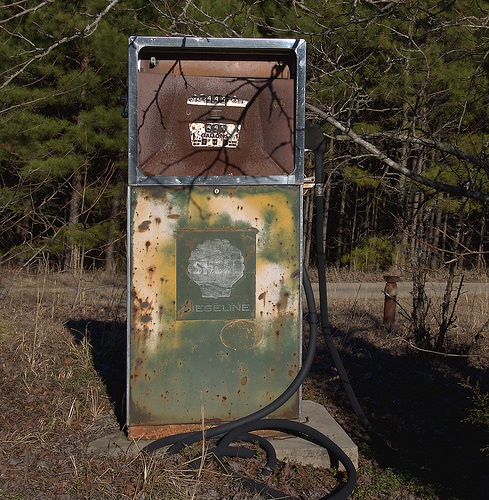 Wrightsville GA Johnson County Old Shell Diesiline Diesoline Gas Pump Photograph Copyright Brian Brown Vanishing South Georgia USA 2015