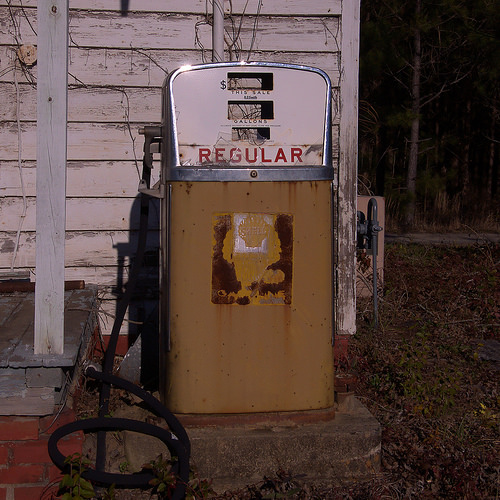 Wrightsville GA Johnson County Old Shell Gas Pump Photograph Copyright Brian Brown Vanishing South Georgia USA 2015