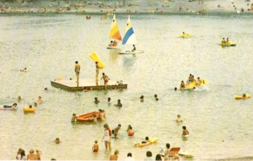 Crystal Lake Irwin County GA Swimmers 1980s Postcard Photograph