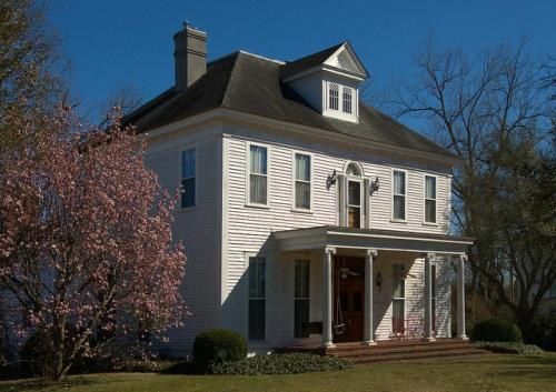 Historic Sandersville GA Colonial Revival House Photograph Copyright Brian Brown Vanishing South Georgia USA 2015