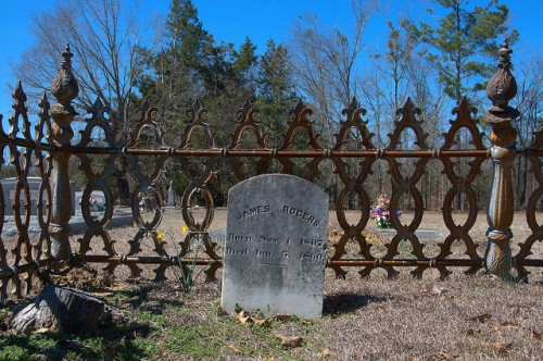 Jacksons Baptist Church Washington County GA Cemetery James Rogers Photograph Copyright Brian Brown Vanishing South Georgia USA 2015