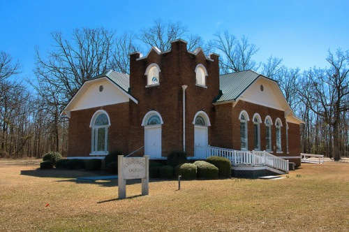 Jacksons Baptist Church Washington County GA Gothic Inspired Photograph Copyright Brian Brown Vanishing South Georgia USA 2015