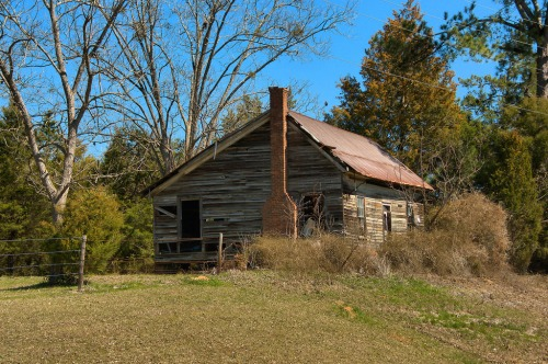 Jefferson County GA Vernacular Farmhouse Photograph Copyright Brian  Brown Vanishing South Georgia USA 2015