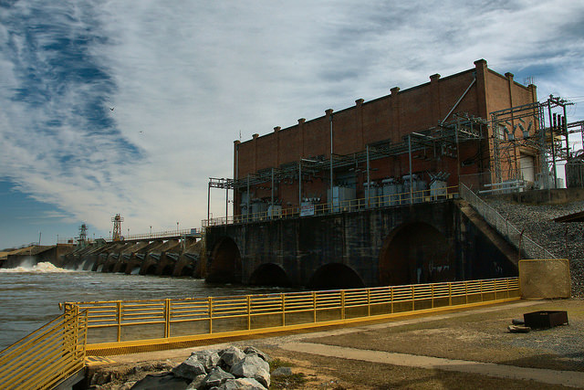 Lake Blackshear Warwick Crisp Power Dam Flint River Worth County GA Photograph Copyright Brian Brown Vanishing South Georgia USA 2015