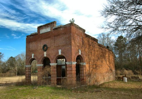 Oakfield GA Exchange Bank Abandoned Building Ghost Town Photograph Copyright Brian Brown Vanishing South Georgia USA 2015