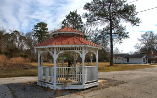 Oakfield GA Town Well Gazebo Photograph Copyright Brian Brown Vanishing South Georgia USA 2015