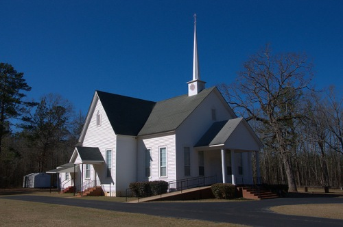 Ohoopee Baptist Church Washington County GA Photograph Copyright Brian Brown Vanishing South Georgia USA 2015
