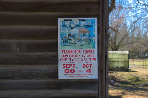 Riddleville GA Washington County Carnival Poster Photograph Copyright Brian Brown Vanishing South Georgia USA 2015