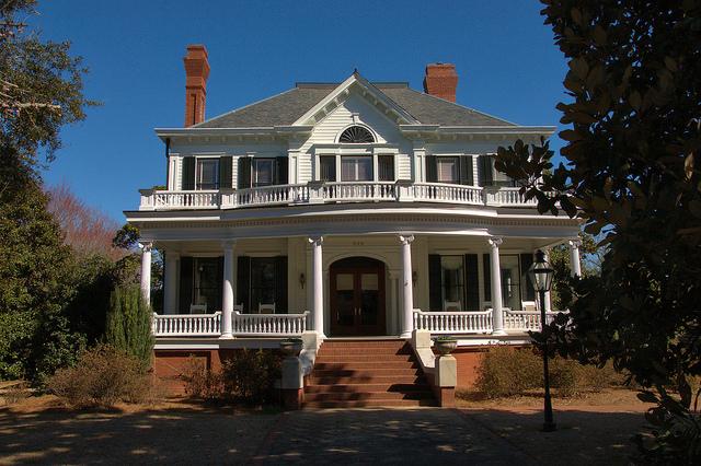 Sandersville GA Colonial Revival Architeccture Mansion Photograph Copyright Brian Brown Vanishing South Georgia USA 2015