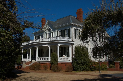 Sandersville GA Colonial Revival Mansion Landmark Photograph Copyright Brian Brown Vanishing South Georgia USA 2015