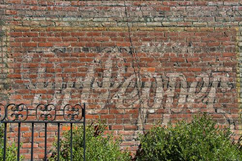 Sandersville GA Dr Pepper Mural Ghost Sign Photograph Copyright Brian Brown Vanishing South Georgia USA 2015