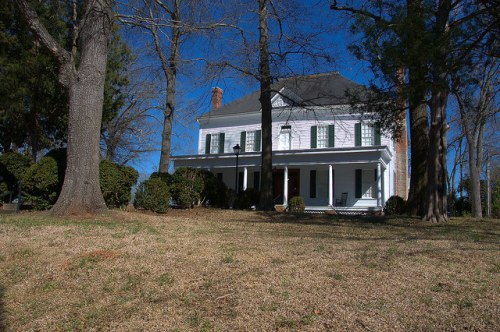 Sandersville GA Historic Brown House General Sherman Stayed Here on March to Sea Photograph Copyright Brian Brown Vanishing South Georgia USA 2015