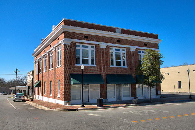 Sandersville GA Masonic Lodge Courthouse Square Photograph Copyright Brian Brown Vanishing South Georgia USA 2015